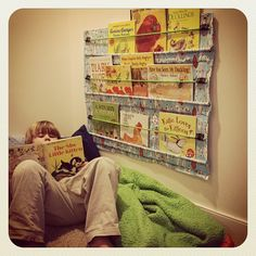 Pen Pals & Picture Books: Hanging Bookshelf