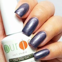 """Color is called, """"Rock It"""" by Purjoi Nail Studio One Step Gel Polish.  This color has blue, purple, grey and glitter.   ❤ ❗ ○ ○   #purjoinailart #purjoinailstudio #purjoigels #purjoigelpolish #gelnailart #gelpolish #gelnailspromote #nailartgallery #gelpolishswatch #gelpolishpromote #nailpromote #allinonegelpolish #allinonegel #gelnails #nailsmagazine #gelnails #onestepgelpolish #onestepgel #nailartclub #nails #nailpolish #onestepgelpolish #gelpolishlovers #nailart #nailpromagazine…"""