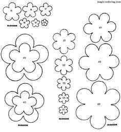 MAGIC-COLORING | Peach, apple blossom template