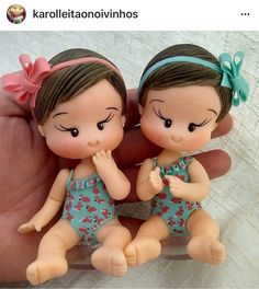 Gemeas Polymer Clay People, Polymer Clay Animals, Polymer Clay Dolls, Polymer Clay Creations, Clay Baby, Clay Figurine, Clay Ornaments, Fondant Figures, Doll Tutorial