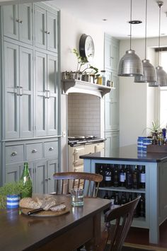 exotic-industrial-style-kitchen-with-silver-pendant-lamps-and-classic-cupboard-and-island-and-wine-rack-best-contemporary-kitchen-design-ideas-for-2015- ...
