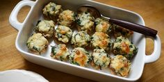 Despite looking like a bar snack, these spinach and cheese stuffed mushrooms are 100 percent good for you. It's hard to believe each one has only 25 calories.