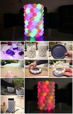 How To Make An Illuminated Ping Pong Ball Lamp | UsefulDIY.com