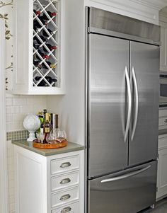Awesome Wine Rack Cabinet Over Refrigerator