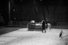 mitch and kenadee lucker | Mitch Lucker and Kenadee Lucker riding around the venue floor before ...