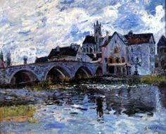 1887-1888.SISLEY. Puente de Moret, efecto de tormenta.