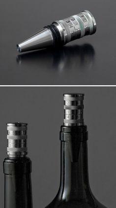 Classic Black Wild Eye Designs Hand Bag Wine Stopper