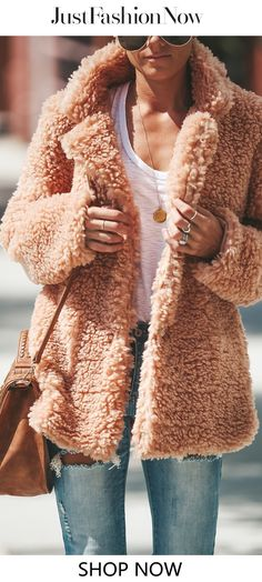 Fleece Cozy Long Sleeve Vintage Shawl Collar Cashmere Teddy Bear Coats coat coat fashion Source by justfashionnow Fashion Outfits, Fashion Coat, Womens Fashion, Fashion Trends, Ladies Fashion, Outfits 2016, Fashion Killa, Fashion Fashion, Fashion Inspiration
