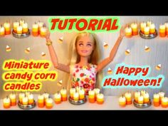 Tutoriel : bougies candy corn miniatures pour nos dolls 🎃 Miniatures, Halloween Candles, Doll Tutorial, Candy Corn, Lps, Pet Shop, Birthday Candles, Creations, Barbie