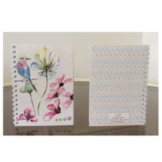 'Pink Neveda' spiral bound Notebook. A6 Blank pages http://www.clairelouise.eu/gifts/a6-stapled-notebooks.html