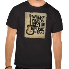 music speaks t-shirts