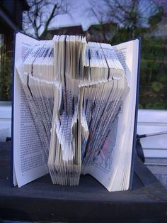 Book folding pattern of a jesus on cross  on Craftsuprint designed by Matthew Simon Davies - Great gift idea and something different.If your new to folding then this is a great opportunity to try folding your first book as full detailed instructions included with the pattern.We are always happy to showcase customers finished pieces, so please send us a picture when you complete the pattern so we can show it of. Instantly available to download the simple pattern.We can customise it to fit…