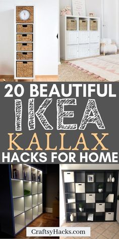 20 IKEA KALLAX Hacks Your Home Needs- Love ikea furniture? Try these ikea kallax hacks and transform your home decor and have fun decorating home. Try these ikea kallax hacks and transform your home decor and have fun decorating home. Ikea Furniture Hacks, Diy Garden Furniture, Ikea Hacks, Home Decor Furniture, Diy Home Decor, Furniture Makeover, Furniture Stores, Diy Hacks, Ikea Organization Hacks