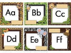 THIS IS EDITABLE! This Wild About Words Word Wall Kit makes it very easy to set up your word wall. Just copy on cardstock and cut out. If you want to use this set again next year, you may want to laminate the cards. You will find 7 small posters to use to help you decorate your word wall and a spelling and sight word label to put on a bulletin board to display your words for the week.
