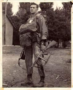 An 82nd Airborne Paratrooper.