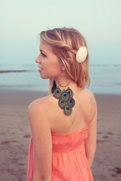 1ed9922a985 StarryEyed Peacock Feather Earrings by CestEllebyJanelle on Etsy