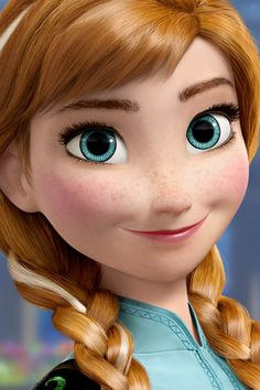 Anna! She's from the upcoming Disney movie, Frozen.She looks like me! Round face, freckles blue eyes, dirty blonde hair, and pale skin.
