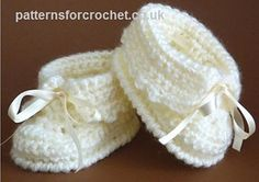 Free pattern for baby booties to fit 0-3 month
