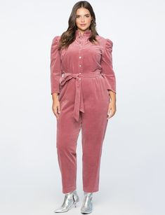 b213dfd5697 Puff Sleeve Jumpsuit in Mesa Rose Jumpsuit With Sleeves