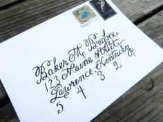 How to Create Envelope Calligraphy | The Postmans Knock