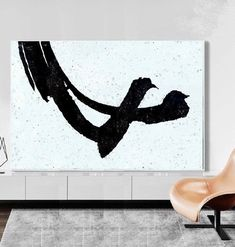 Large Abstract Painting Minimalist art Original Art Black and White art Canvas Large Wall Art Modern Art Painted by Alexsandr Speshilov Modern Art Paintings, Original Paintings, Original Art, Black And White Abstract, White Art, Modern Office Decor, Minimalist Art, Large Wall Art, Wall Art Decor
