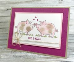 I'm so in love with the new This Little Piggy stamp set from the 2017-2018 Annual Catalogue which will be released on June 1st! So I had to make a card with two piggies in love. In order to get...
