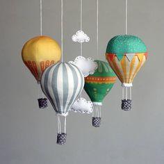 DIY mobile Babyausstattung Heißluftballon Kit  moderne