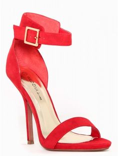 Red Heels With Strap