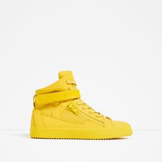 ZARA - MAN - YELLOW ZIPPED HIGH TOP SNEAKERS