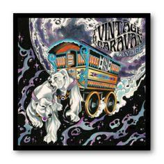 Cuadro con marco negro de aluminio para disco de vinilo / The Vintage Caravan - Voyage / #TheVintageCaravan