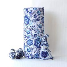 Decorative pillow Gzhel от pandashoping на Etsy