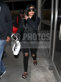 4424fa536f6 Celebrity Pictures and Celebrity Stock Photos. April 3Nicki MinajCelebrity  PicturesLos Angeles. Nicki Minaj Sighted at LAX Airport ...