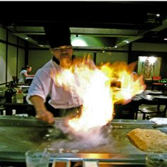 Japan cooking with fire