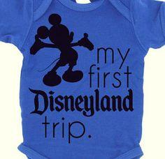 Mickey Mouse - Disneyland - Baby Boy - My First Disneyland Trip - Onesie - Disney Trip Onesie