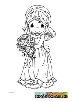 precious moments mommy flower girl drawing - Google Search
