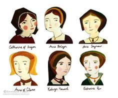 Six Wives of Henry VIII by Emmeline Pidgen. Gorgeous.