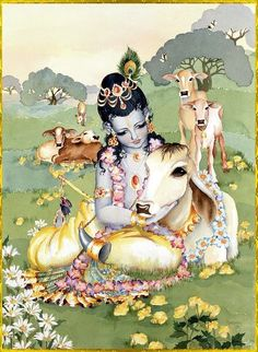 Govinda and He's beloved cows