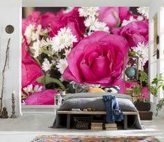 Muhteşem 3D Çiçek Duvar Kağıdı  #3Boyutlu #Muhteşem #Duvarkağıdı #3d