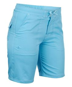 f5ec7565f5a Love this Aqua Drawstring Boardshorts by UV Skinz on  zulily!  zulilyfinds  Boardshorts
