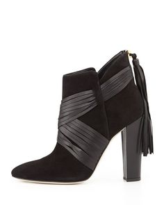X2RXS Oscar de la Renta Harris Suede Ankle Boot, Black