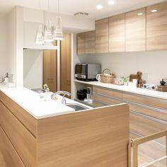 ナチュラルテイストで統一されたキッチン。ryuryu_homeさんのキッチンを探索!【クリナップ クリンレディ(ダイワハウス特注)】 | ムクリ[mukuri]