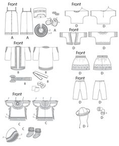 Free Printable Doll Clothes Patterns | M6670 | Clothes For 18' Doll and Accessories | Crafts/Dolls/Pets ...