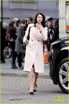 Caitriona Balfe (set of Money Monster)