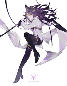 Art by Fantasia (Blake Belladonna) Moe Anime, Rwby Anime, Rwby Fanart, Anime Art, Blake Belladonna, Elsword, Neko Girl, Rwby Blake, Character Art