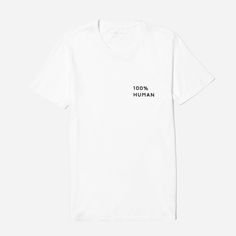 We launched the 100% Human Collection to support two things that matter to us—protecting human rights and remembering that we are more the same than we are different. For every 100% Human product sold, we're proud to donate $5 towards the ACLU.  Featured here is our classic Cotton Crew tee with a small left chest print, as well as our 100% Human pin—free with every purchase while supplies last.