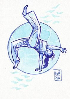 Encres : Capoeira - 166 [ #capoeira #ink #painting ] by French Artist: Alexandre Guillaume