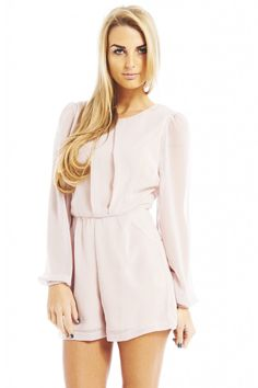 Long Sleeve Chiffon Romper $41 | click here to add this to your spring wishlist!