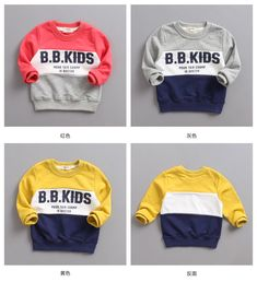 The new children roundneck Cotton Terry spell color all-match hoodies. Sports and leisure style special offer – Best Kids Clothing Stores Online Boys Summer Outfits, Family Outfits, Boy Outfits, Clothing Stores, Kids Clothing, Matching Hoodies, Polo Shirt Brands, Baby Boy Tops, Kids Frocks
