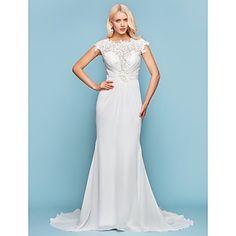 Lanting+Bride®+Sereia+Pequeno+/+Tamanhos+Grandes+Vestido+de+Noiva+-+Chique+e+Moderno+/+Elegante+e+Luxuoso+Inspiração+Vintage+/+Sem+costas+–+USD+$+139.99