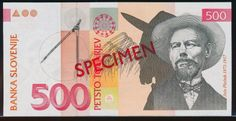 Slovenia 500 tolarjev currency of Slovenia Slovenian banknotes - 500 tolarjev 1992 Series, issued by the Bank of Slovenia (Banka Sl. Architecture Student, Slovenia, Postage Stamps, Coins, World, Banknote, Pictures, Shakespeare, Florence